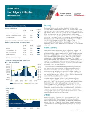FtMyers_Americas_Alliance_MarketBeat_Industrial_Q2_2019_Page_1