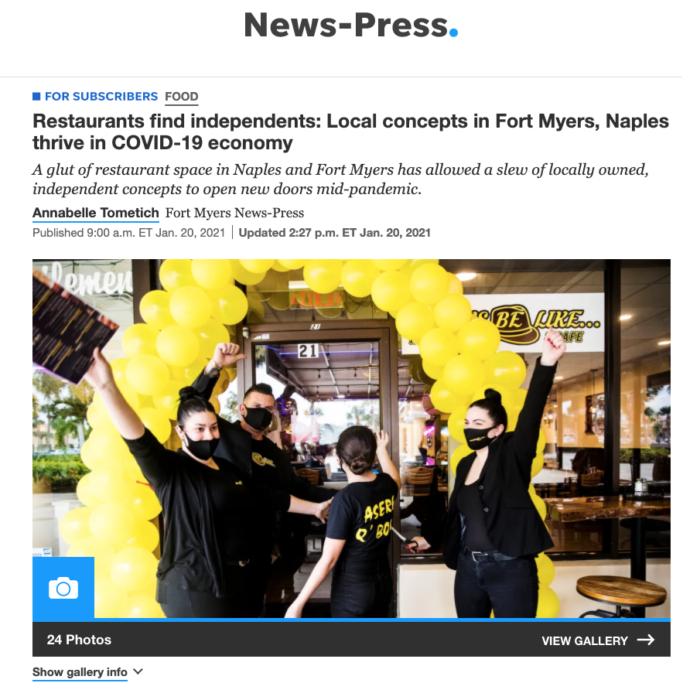 Gary Tasman talks Restaurant Biz in News-Press