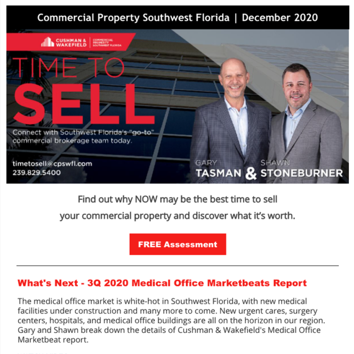 December 2020 Time to Sell Newsletter