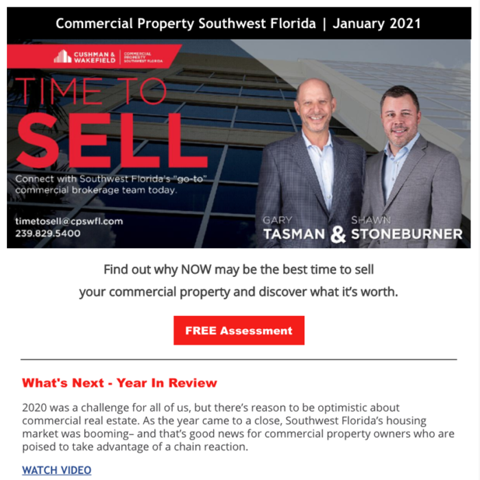 January 2021 Time to Sell Newsletter
